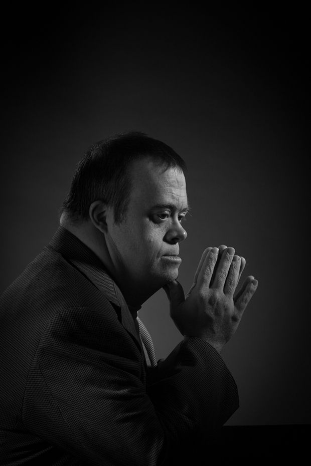 Conceptual Portraits of a Man with Down Syndrome Reference Art History and Superman - Feature Shoot