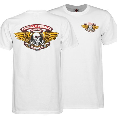 Powell Peralta Winged Ripper Shirt Tee T-Shirt Old School Skateboard Clothing Bones Brigade 80's Skateboarding, nostalgic, collectable, collectible, rare, sale, cheap, lowest price, best, bones brigade, Thrasher, Transwo