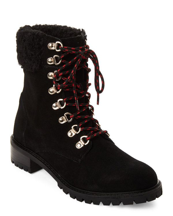 b0d94a00364 Black Lavar Lace-Up Boots in 2019 | Shoes | Boots, Shoes, Hiking Boots