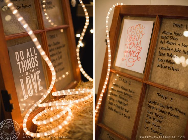 Fantasy Farm - Rustic wedding seating chart #sweetheartempirephotography
