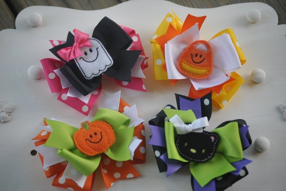 cute hairbows: Halloween Hairbows, Craft, Bows Halloween, Shops, Hairbows Love, Hairbows Jess, Hair Bows, Boutique Bows