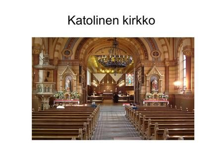 Katolinen kirkko. Historia ja faktat Katolinen kirkko syntyi vuonna 1054, kun kristityt jakaantuivat katolilaisiin ja idän ortodokseihin. Katolilaisen.