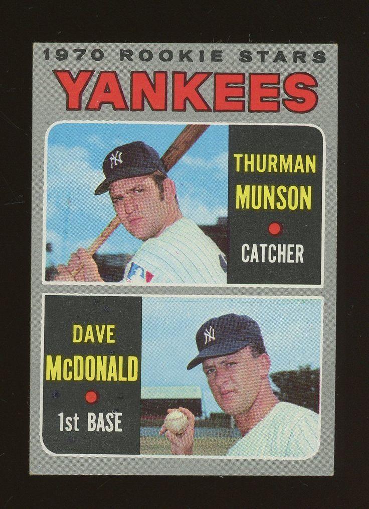 1970 topps 189 thurman munson new york yankees rc rookie