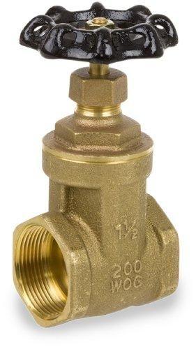 "Smith-Cooper International 8501 Series Brass Gate Valve, Non-Rising Stem, Inline, 3/4"" NPT Female, Non-Potable Water Use Only"