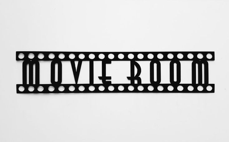 MOVIE ROOM Sign in Film Font Home Theater Decor Metal Wall Art #hometheater