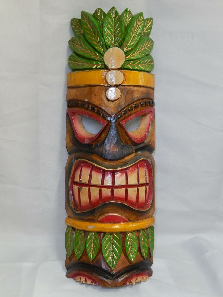 Best 25 tiki mask ideas on pinterest clay masks tiki for Tiki decorations home