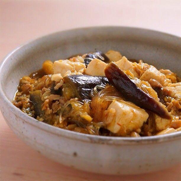 豆腐、茄子、春雨ぜんぶ大好きなので、トリプル麻婆! | あさこ食堂