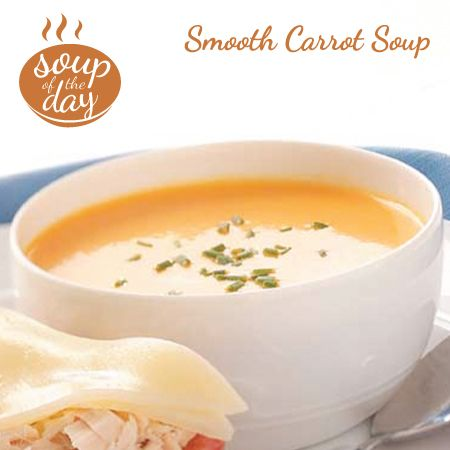 Smooth Carrot Soup Recipe from Taste of Home -- shared by Robyn Larabee of Lucknow, Ontario