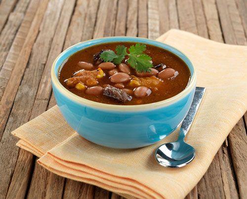 Bush's Bean Inspired Pinto Bean Steak and Dumpling #Soup recipe at TidyMom.net