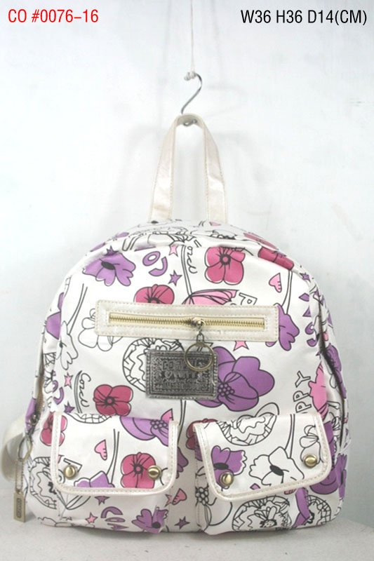 Coach Signature Multi Pocket Backpack Flower