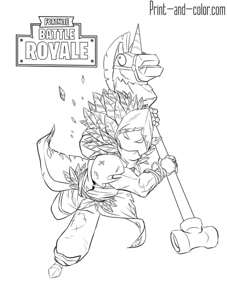 Fortnite Battle Royale Coloring Page Raven Male Skin Outfit