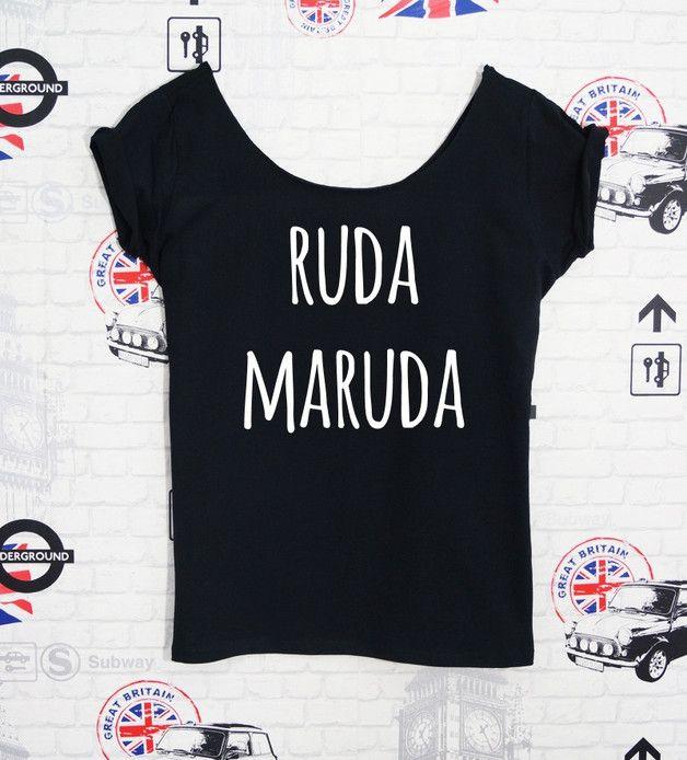 "Koszulka damska ""RUDA MARUDA"" - PROSTY - PinkCat24 - Koszulki i bluzy"