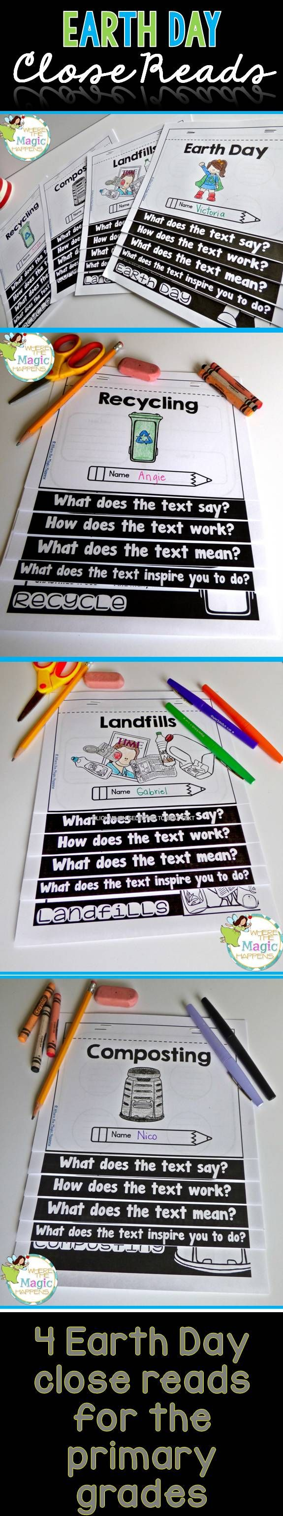Earth Day close reading mini-pack. This set of foldables will provide your students with deeper, strategic skills while targeting social studies content. This pack is loaded with text -dependent questions and follows the research of Fisher & Frey.