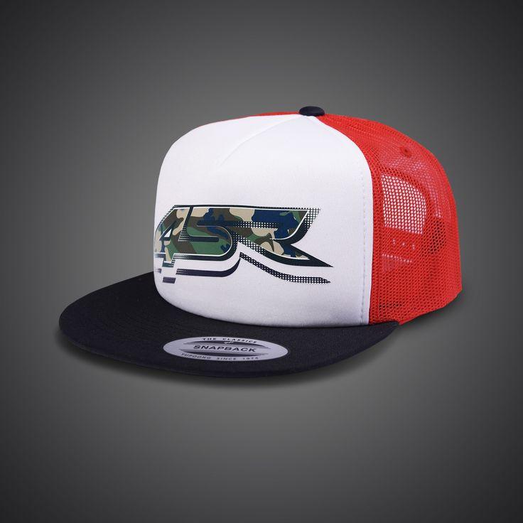 Men's Camo Snapback Cap by 4SR in adjustable size.