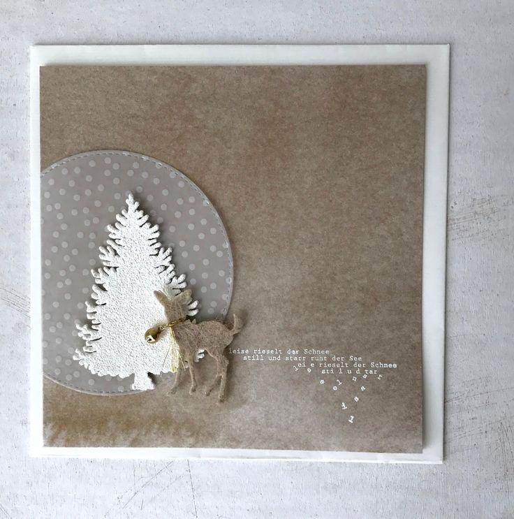 die ersten Schneeflocken sind gefallen...langsam zieht der Winter ein... damit der Tannenbaum so schön verschneit aussieht, h...