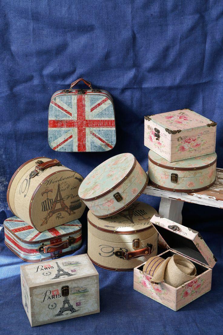 Ordena tus cosas en estas lindas maletitas #BelleEpoque #British #Home