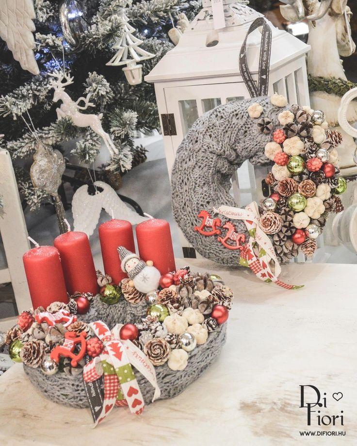 Christmas wreath, table decoration / Adventi koszorú