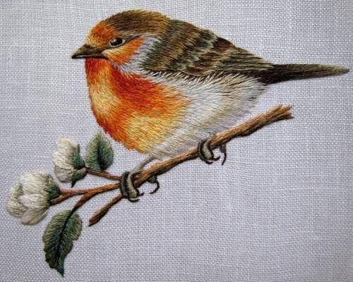 View topic - Needle Painting: European Robin (Trish Burr) – Needle'nThread.com