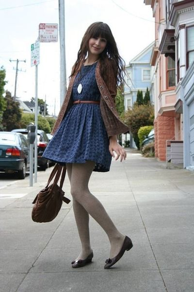 Dress and vintage cardigan