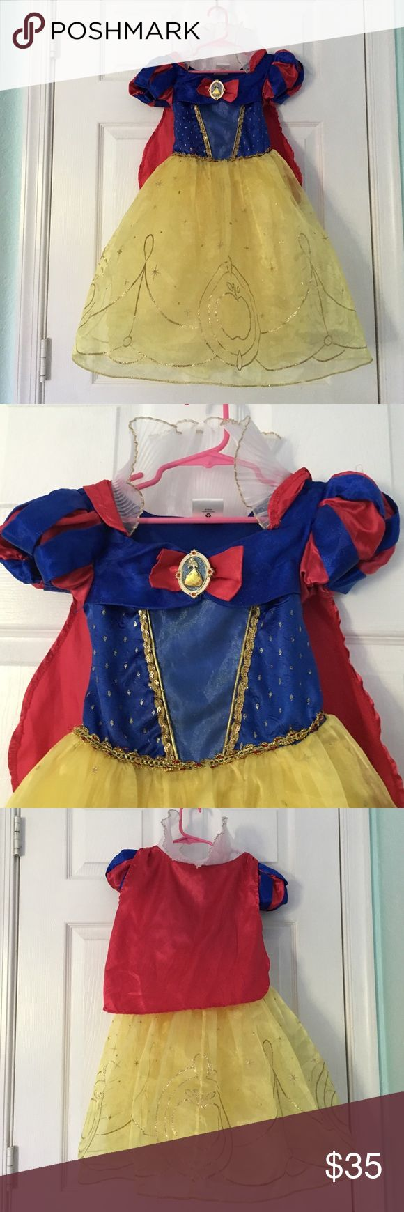Snow White with cape Disney Store costume This is an authentic Disney Store Snow White costume with red cape. Great condition! Disney Costumes Halloween