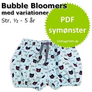 Bubble Bloomers symønster i PDF