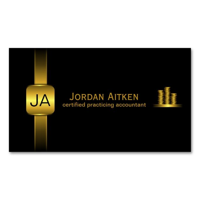 Black and Gold Coins Horizontal CPA Accountant Double-Sided Standard Business Cards (Pack Of 100). This is a fully customizable business card and available on several paper types for your needs. You can upload your own image or use the image as is. Just click this template to get started!