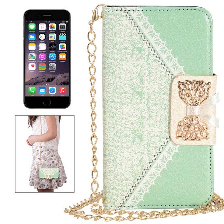 Etui Cuir iPhone 6 Fashion Sac à Main - Vert