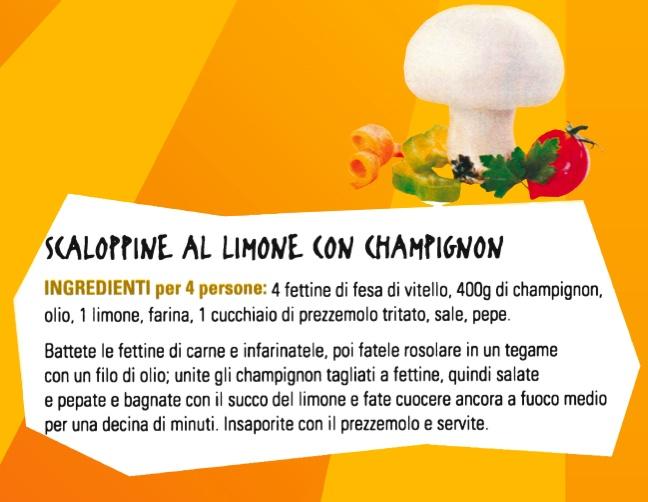 Scaloppine al Limone con Champignon