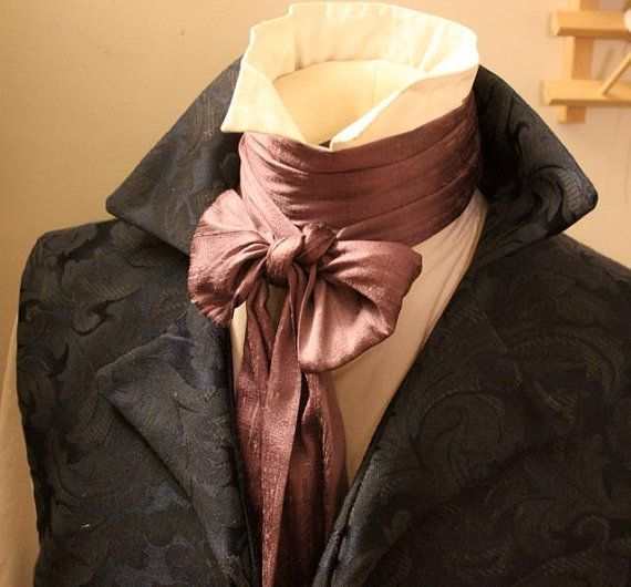 Extra LONG Slim  REGENCY Brummel Victorian Ascot by elegantascot, $30.00