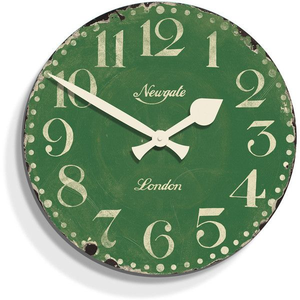 Newgate Clocks Market Hall Clock - Bowling Green ($73) ❤ liked on Polyvore featuring home, home decor, clocks, fillers, wall clocks, backgrounds, green, wooden clock, wood plates and green plate