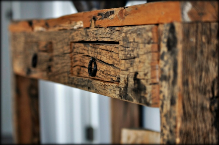 Console de bois recyclé, Artemano