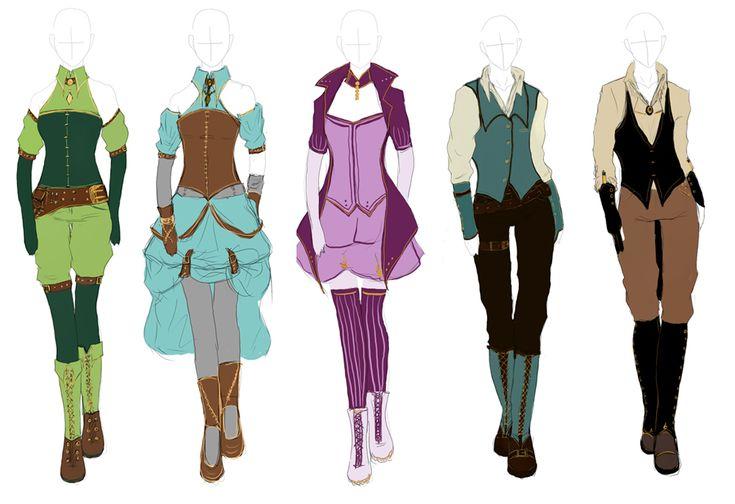 Outfit Design: Steampunk by Himwath on DeviantArt