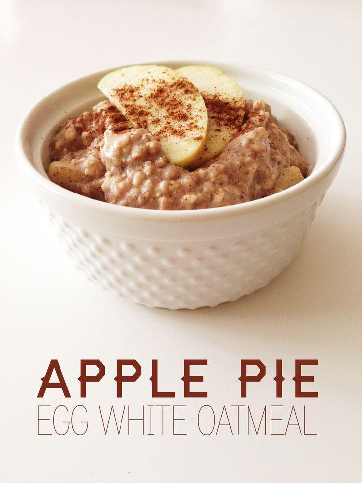 Apple Pie Egg White Oatmeal by the Slender Student blog