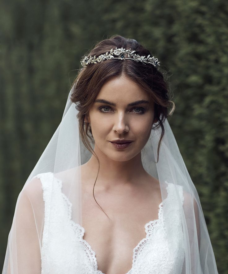 HARPER | antike silberne Kristallkrone   – Bridal headpieces