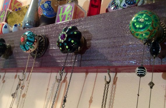Jewelry hanger / wall rack / accessory holder / by ThePovertyBarn