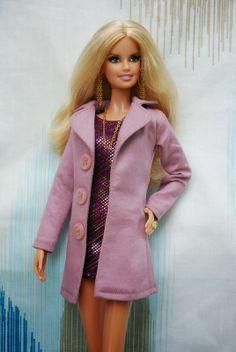 Nenca - zberateľské barbie a tvorba: Barbie as Heidi Klum a ružový kabátik, minišaty