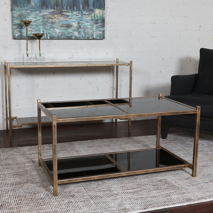 Karol Black Glass Coffee Table By Uttermost