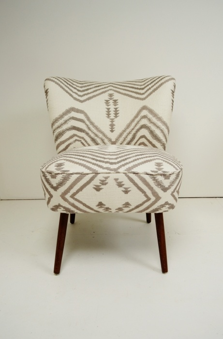 1950s vintage cocktail chair from Osi Modern. #Andrew_Martin #ikat #navaho