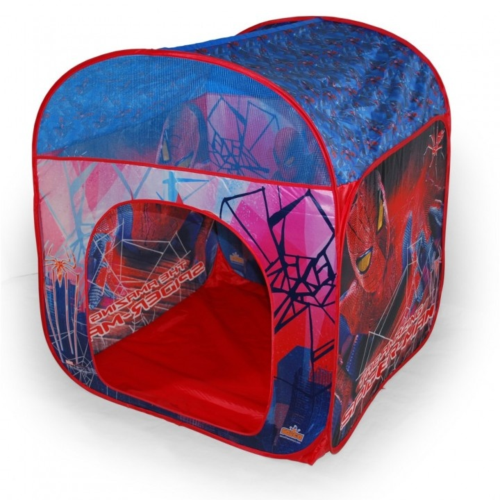La auténtica casa de Spiderman, para que tus hijos disfruten, tanto en casa como fuera. Llévala a la playa o a un día en el campo, o crea su espacio en casa, protegido por el mismísimo hombre araña.  http://www.dibutoys.com/product/tienda-casa-spiderman/