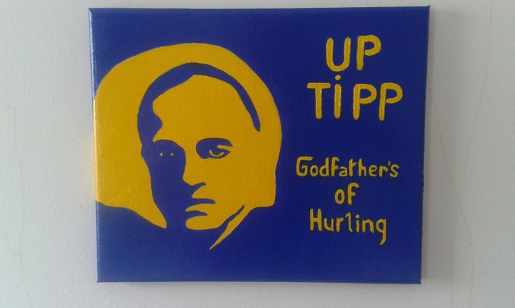 An updated, and improved, version of the #Tipperary Godfathers of hurling painting. Painted for a Tipp hurling fan on her birthday