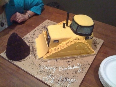 Bulldozer cake By libby7667 on CakeCentral.com