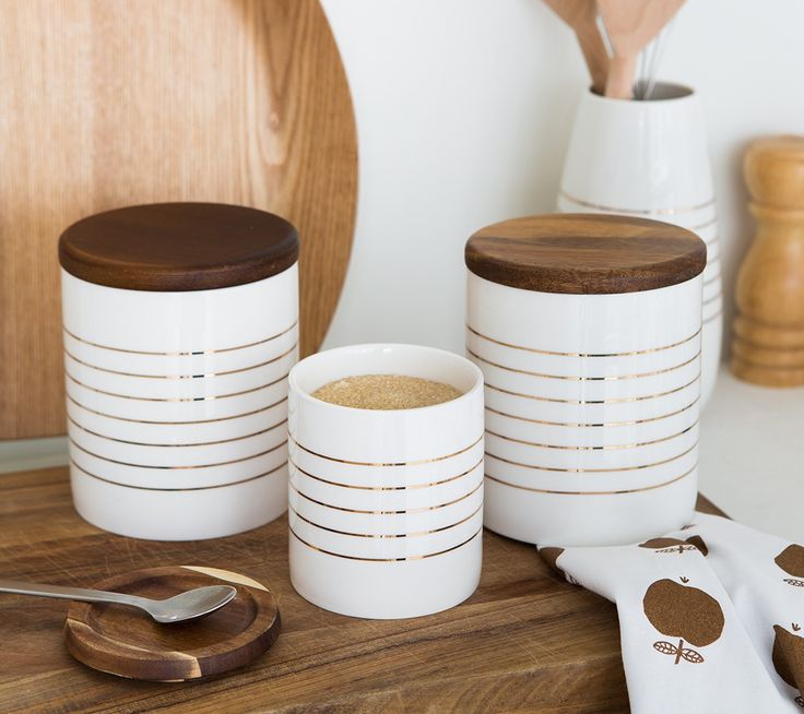 Gorgeous kikki.K Canisters are perfect for storing tea, coffee and pantry essentials. www.kikki-k.com