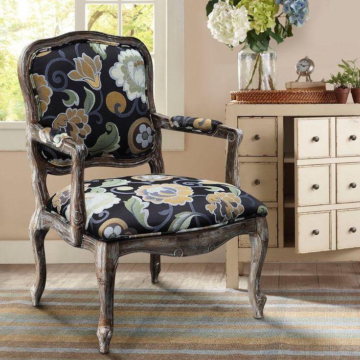 Best Madison Park Monroe Camel Back Wood Arm Chair Multi 640 x 480