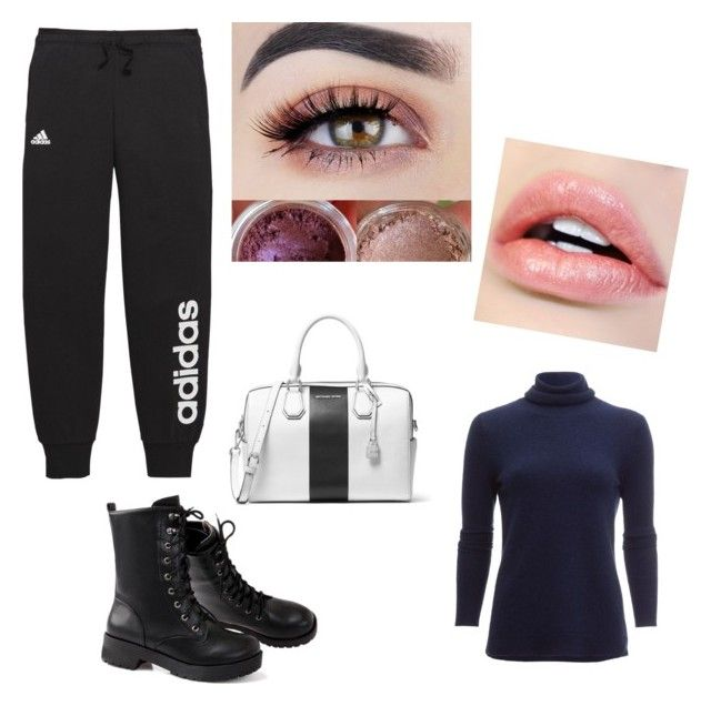"""""""Untitled #9"""" by julle2003 on Polyvore featuring White + Warren, adidas and MICHAEL Michael Kors"""