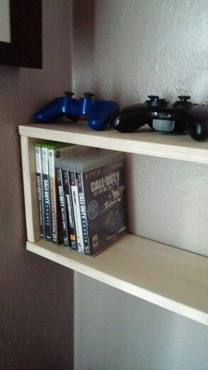 DIY video game and DVD shelf