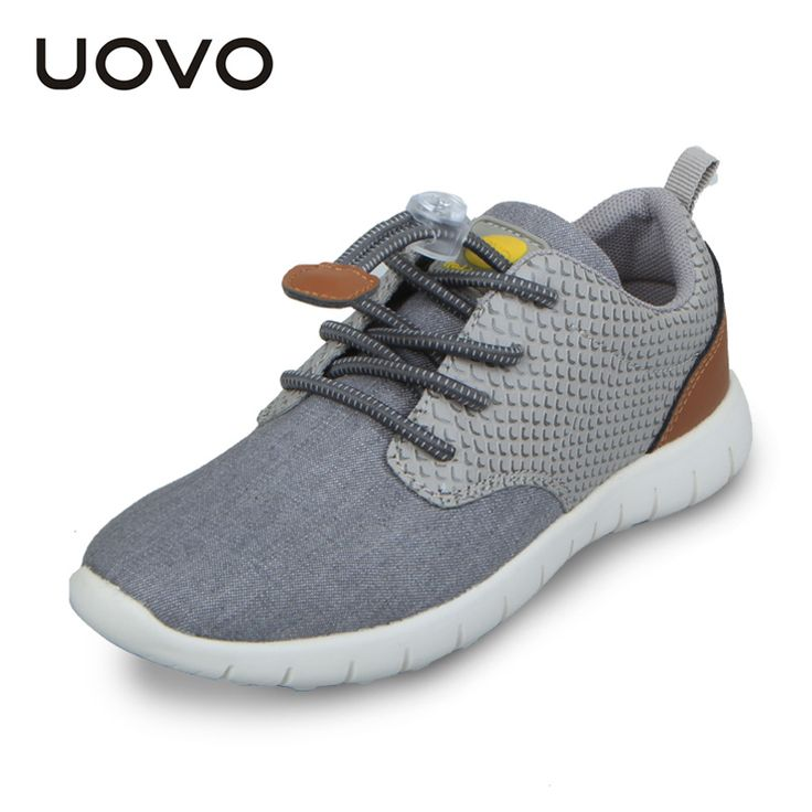 Uovo New Spring Autumn Boys Sport Shoes Children Casual Fashion Sneakers Soft Comfortable Cloth Loafers Blue Grey Color EU31-37 #Affiliate
