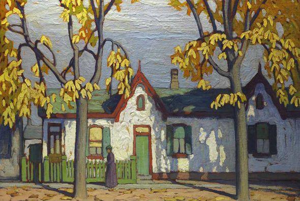 "Lawren Harris - ""Houses St. Patrick Street"" 1922"