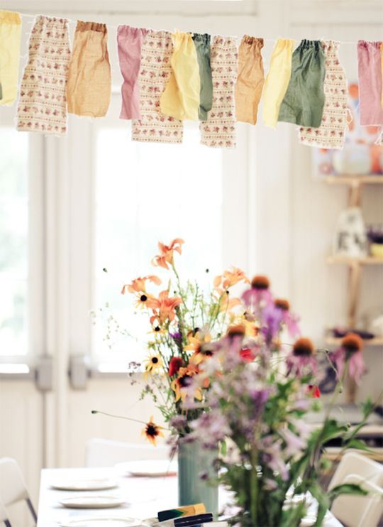 Bunting comes in all different sizes and shapes, but it's a classic. This set from Rodeo & Co. is a decorative touch that feels home-y and real, well beyond the actual party. Via Cake Events & Design.
