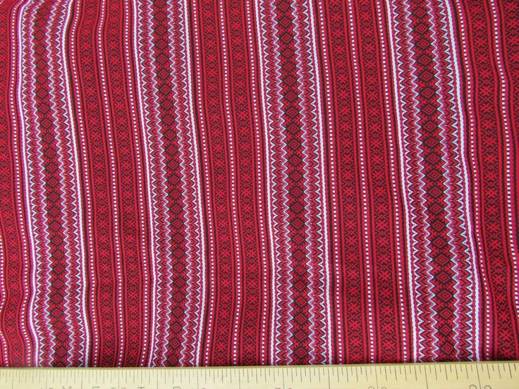 "ткань ""Орепей"" (красный с белым) Двухсторонняя рисунок по ширине ткани (по утку). ширина 1,5м. цена 700 руб.п/метр"