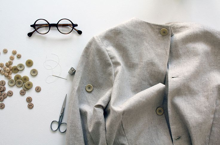 And when the days are grey we're sewing buttons…